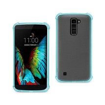 REIKO LG K10 MIRROR EFFECT CASE WITH AIR CUSHION PROTECTION IN NAVY - $6.90