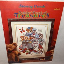 Teddies Trunk Treasures Cross Stitch Leaflet 97 Booklet Stoney Creek Tra... - $10.99
