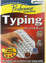 "Learn to Type: UK Typing Tutor ""Typing Quick and Easy"" PC Windows 1Xp to 10 - $3.60"