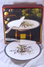 Lenox Etchings Footed Cake Plate With Server NIB - $47.63