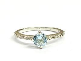 AQUAMARINE RING ,Dainty Ring ,March Birthstone, Mothers day Gift ,Aqua c... - $225.00