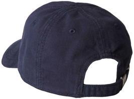 Lacoste Men's Navy Blue Gabardine Cotton Hat Big Croc Logo Strap Back Cap image 3