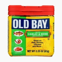 OLD BAY GARLIC & HERB SEASONING 2.25 oz FREE SHIPPING!!! - $9.36