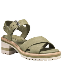 TIMBERLAND WOMEN'S VIOLET  MARSH X-BAND  SANDALS OLIVE NUBUCK A1VQQ - $79.99