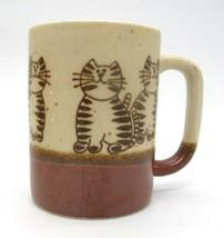 Speckled Stoneware Otagiri Fats Cats Smiling Cat Coffee Tea Cup Mug Vintage - $19.79