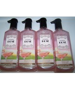 Lot of 4 Bath & Body Works Raspberry Rose Creamy Luxe Hand Soap 8 oz each - $21.99