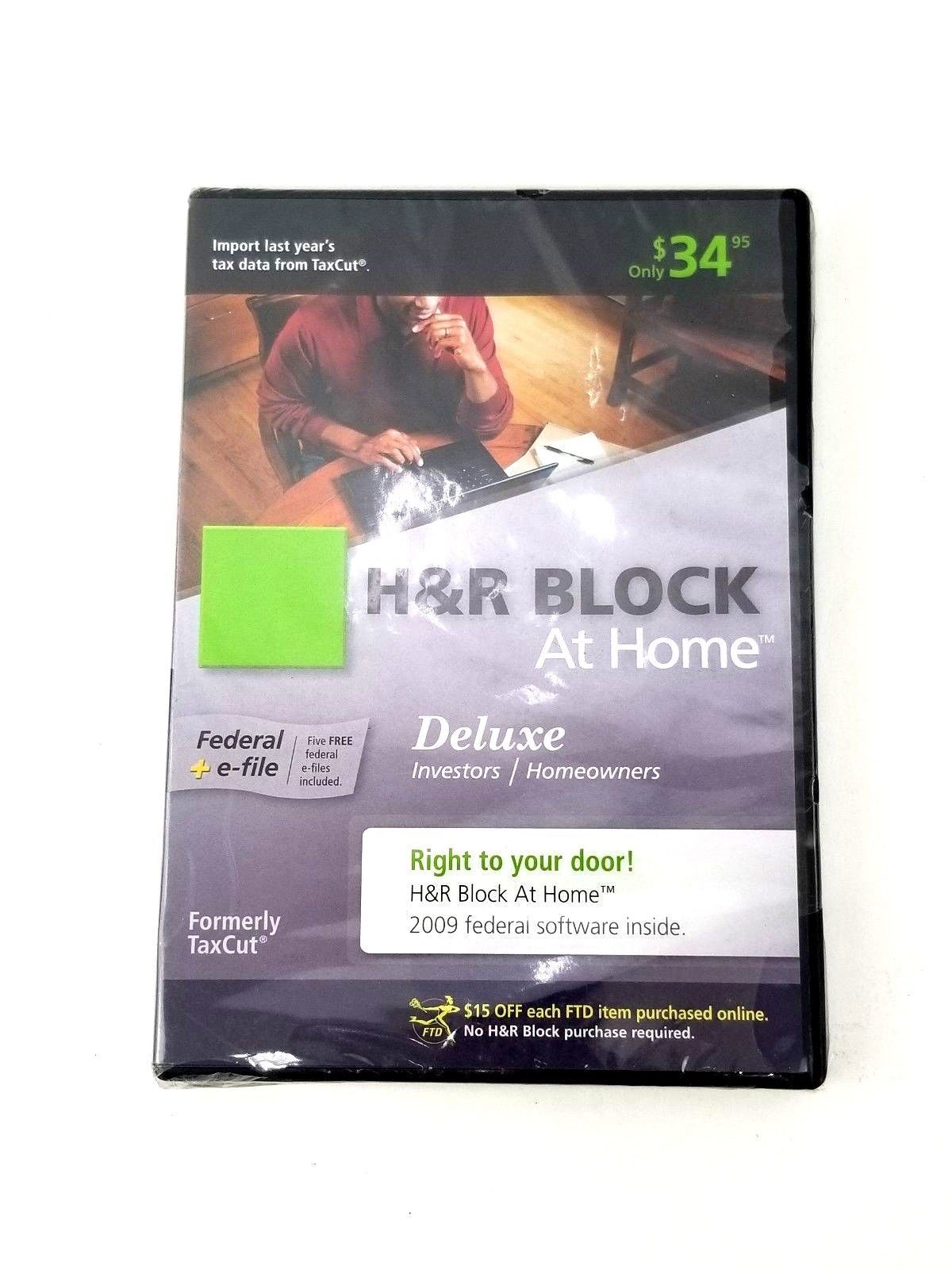 H&R Block at Home 2009 Deluxe Federal E-File Software Brand New