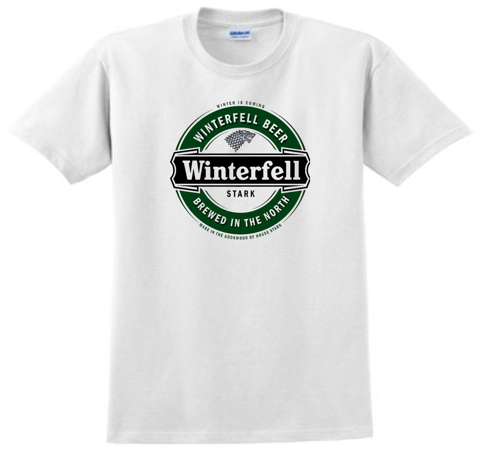 Game of Thrones Winterfell Beer T Shirt U Pick Size S M L XL 2XL 3XL 4XL 5XL