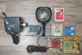 Sears 8 mm Reflex -Zoom camera/2/cartridges/Roy Rogers film/Mr Magoo - $69.29