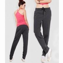 2014 Straight Sports Casual Hip-Hop Dark Grey Pants Women's Harem Pants Fleece S