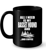 Basset Hound Dog Lover Ceramic Mug  Gift For Basset Hound Owner - $13.99+