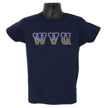West Virginia Mountaineers Ladies Rhinestone Tee Shirt Medium - $19.99