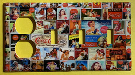 Coke Coca Cola Old posters Light Switch Power Outlet Wall Cover Plate Home decor image 5