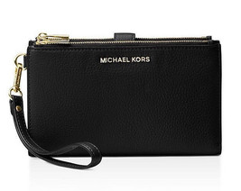 Michael Kors Adele doppelter Reißverschluss Wristlet iPhone Plus - $94.04