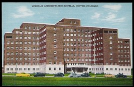 Veterans Hospital Postcard Denver Colorado Cars 1951 CO PC - $14.99
