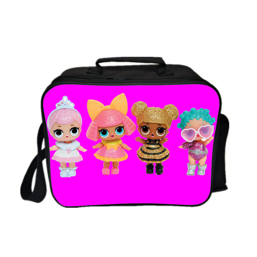 L o l surprise lunch box pink series lunch bag pattern e