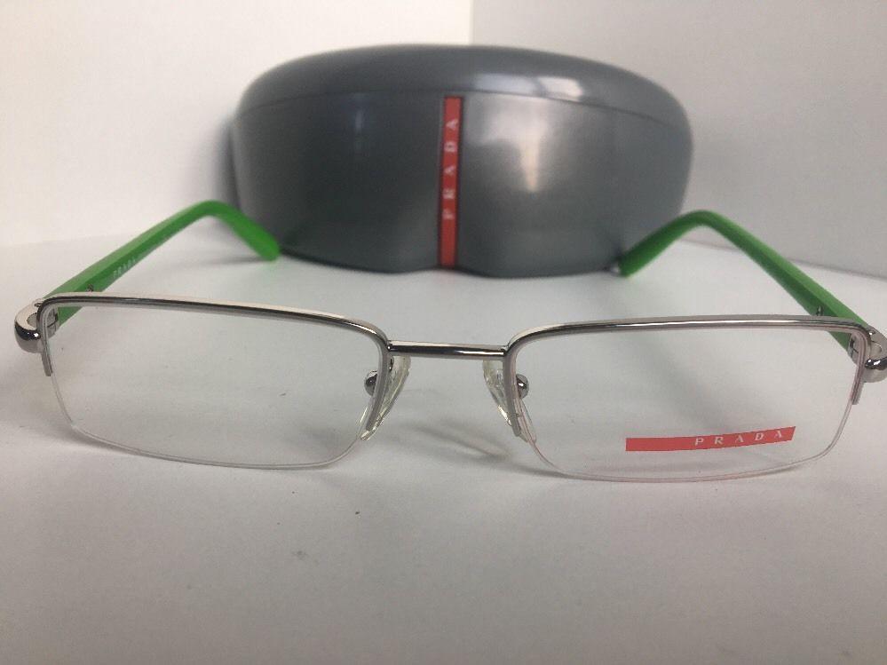 feffd291e52 S l1600. S l1600. Previous. New PRADA VPS 57B VPS57B 1BC-1O1 Silver 51mm  Semi-Rimless Eyeglasses Frame