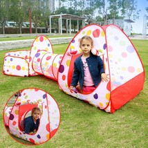 New EocuSun Polka Dot 3-in-1 Folding Kids Play Tent with Tunnel, Ball Pit - $46.28