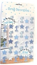 42 Foot Boy Blue 1st Birthday Party Hanging Six 7ft String Party Decorat... - $4.16