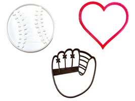 You Are A Catch Valentines Baseball Mitt Set 3 Cookie Cutter 3D Print US... - $6.99