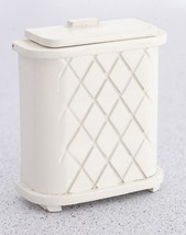Dollhouse Miniature  - White Clothes Hamper - 1/12 Scale - $11.99