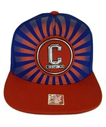 Chicago Men's Striped Cotton Patch Style Adjustable Snapback Baseball Ca... - $13.95