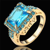 POWERFUL RING TOPAZ BLUE  BRING ME MONEY FAST S... - $35.99