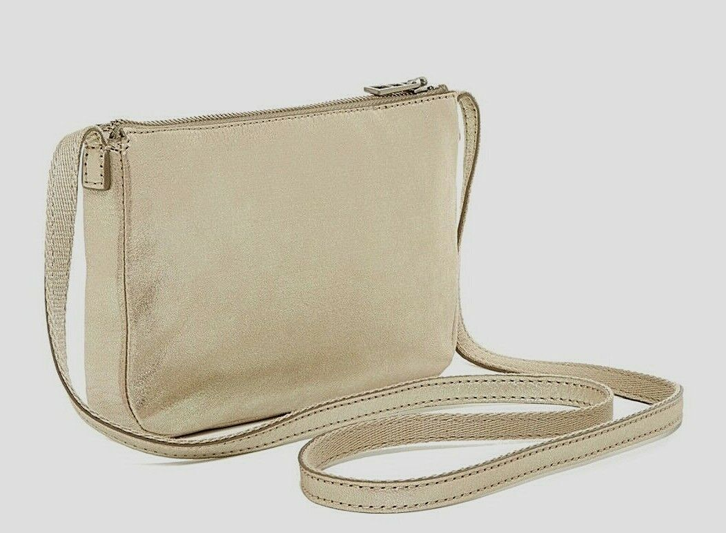 New Fossil Women Dawson Mini  Leather Crossbody Bag Variety Colors