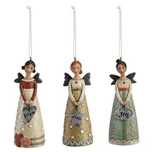 Kelly Rae Roberts - 3 Sculpted Angel Ornaments Joy Love Wish - 11.5cm 1002720243 - $34.65