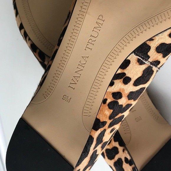 Super Posh Ivanka Trump Tizzyly Flats In Leopard Size 9 Black Tan