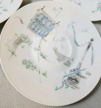 Set 4 Vintage Rosenthal Plaza Raymond Loewy Saucer Plates Romantic Town ... - $24.24