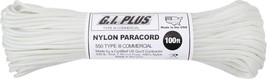 White 550LB 100% Nylon Paracord 7 Strand Cord Type III Rope 100 Feet - $10.95