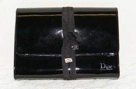 Christian Dior Beaut'e Black Faux Patent Leather Cosmetic Makeup Bag Euc - $34.99