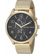 MICHAEL KORS MERRICK MK8645 GOLD STAINLESS STEEL CHRONOGRAPH MEN'S WATCH - £106.75 GBP