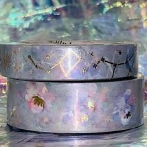 SEALED Papergeek Paper Geek 2x Blue Floral Constellation Washi Tape 33' Each image 2