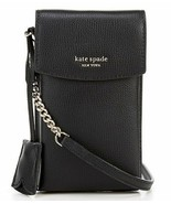 Kate Spade sylvia north south flap Leather phone crossbody ~NWT~ Black - $106.92