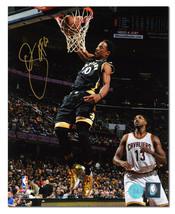 DeMar DeRozan Toronto Raptors Autographed Liquid Gold Shoes Dunk 16x20 P... - £82.13 GBP