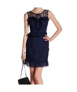 NWT Romeo & Juliet Couture Sleeveless Lace Navy  Dress Small $195 - $59.00