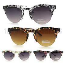 Women's Fashion Half Rim Sunglasses with New Trendy Animal and Floral Pattern - $7.95
