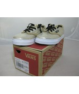 VANS Kids Atwood Low Cracked Leather Gold Shoes U.S Size 11 Off the Wall - $29.99