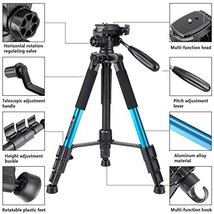 Tairoad T1111 Travel Camera Tripod Lightweight with Carry Case 3 Way Fluid - $46.08