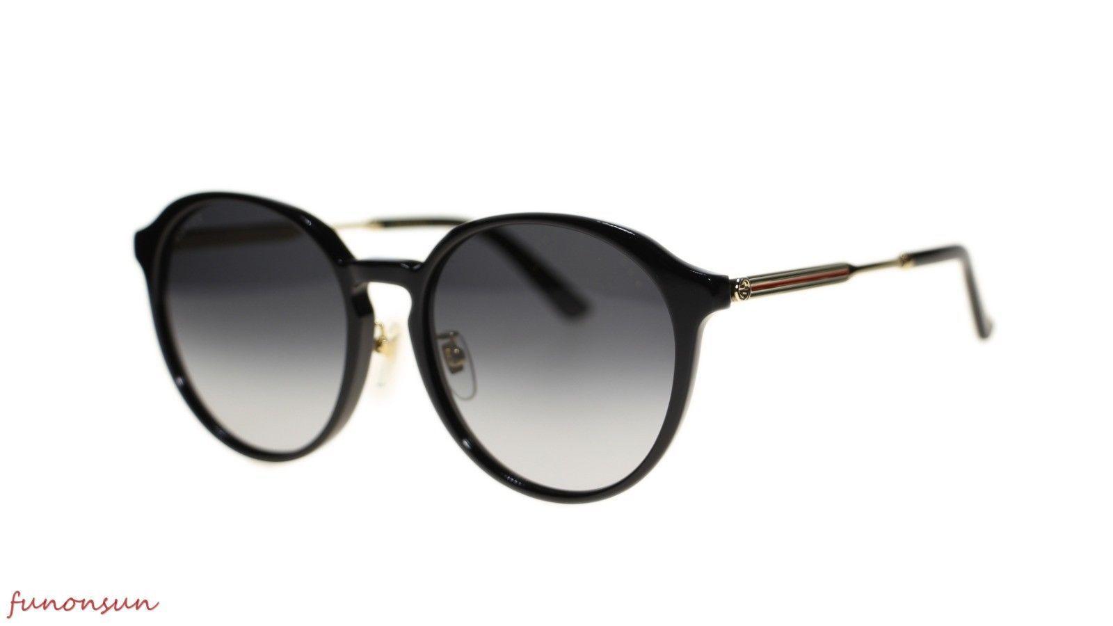 e238bde1eeb 10. 10. Previous. New Gucci Unisex Sunglasses GG0205SK 001 Black Grey Lens  Round 57mm Authentic