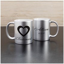 Personalized Wedding Gifts and Favors Bridal Party Metallic Mug PGU1105096X - $15.90