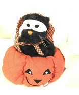 "Boyds Home""Jack-O-Latern""  #811578-  8"" Plush Cat in Pumpkin-  NEW - $34.99"