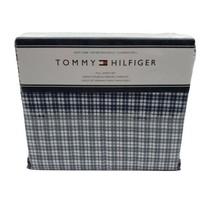Tommy Hilfiger 4 Piece Blue White Plaid Striped Full Sheet Set - $69.95
