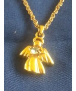 Vintage Signed Avon Angel Pendant Necklace - $6.00