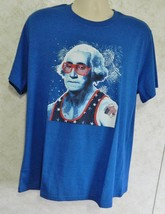 Red Camel Handcrafted Men's Graphic Blue Tee Shirt George Washington Sz ... - $18.69