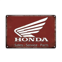 HONDA Garage Sign Plaque Metal Vintage Sales Service Part Man Cave Wall ... - $9.45