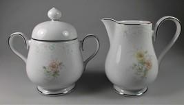 NORITAKE Anticipation creamer pitcher covered sugar bowl Ireland 2963 f... - $34.64