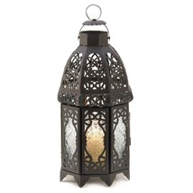 Hanging Lanterns Decorative, Black Lattice Metal Floor Patio Lantern Out... - €22,78 EUR